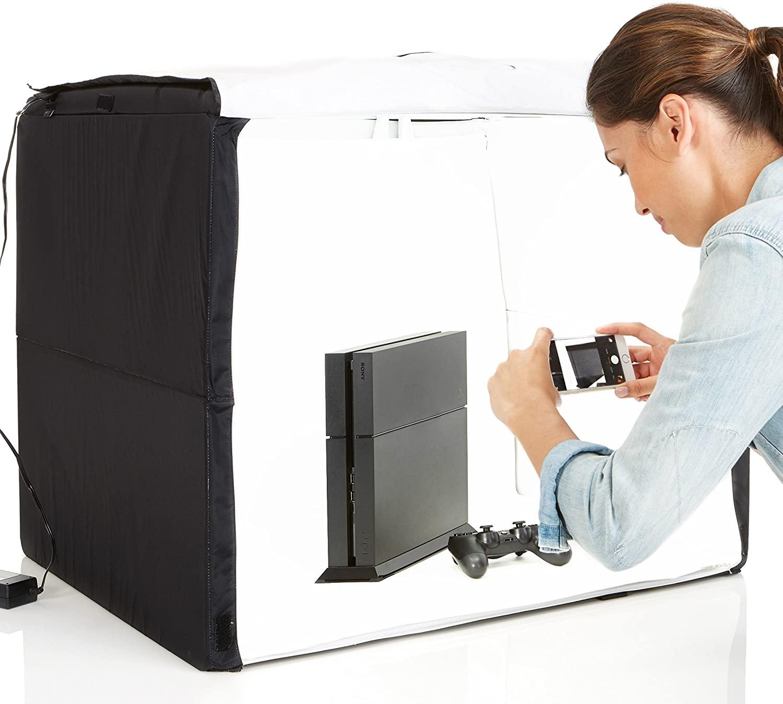 AmazonBasics Portable Foldable Photo Studio Box with LED Light