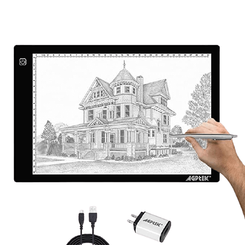 AGPtek A4 Ultra-thin Portable LED Artcraft Tracing Light Pad