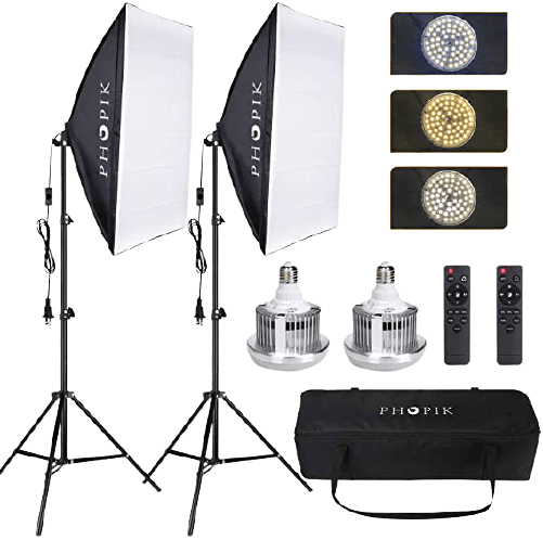 PHOPIK Softbox Lighting Kit