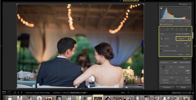 How to Straighten Photo in Lightroom